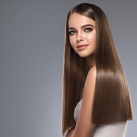 1. Колко дълга е косата ви? / А. Много + екстеншъни. /  Б. Средна дължина. /  В. Къса, но не прекалено.