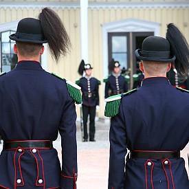 Гвардейци пред кралския дворец