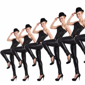 Секси мускули с фитнеса на кабаретните танцьорки