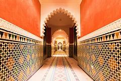 Типичната мароканска архитектура с малки плочки