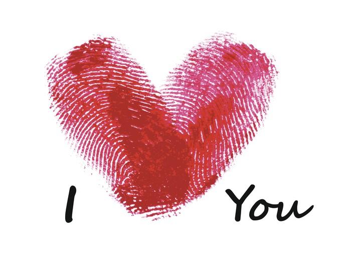 Ако искате наистина уникална картичка за Свети Валентин, направете я от пръстовите си отпечатъци!
