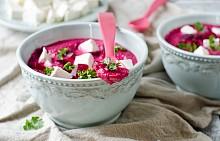 Крем супа от цвекло с фета сирене