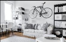 Комбинирайте велосипеда с акцентите в стаята.