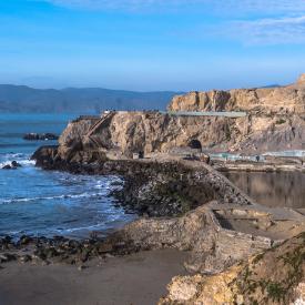 Останките на някогашните обществени бани на Сан Франциско