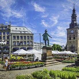 Борсата за цветя на площад Stortovert