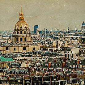 Панорамна гледка към някогашен Париж