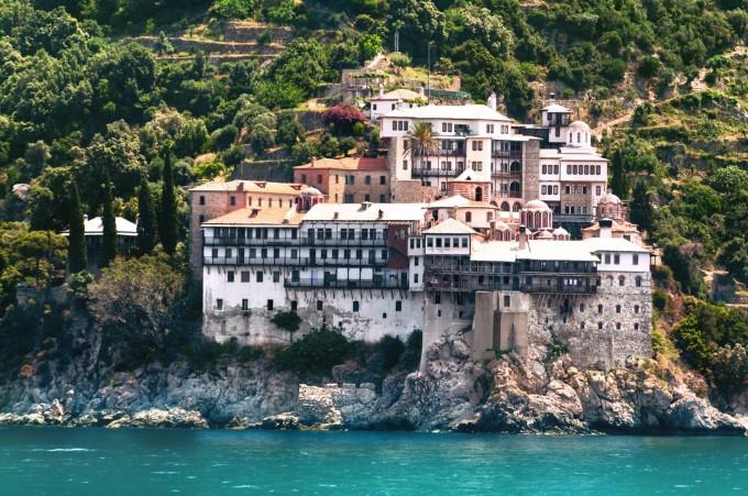 """Един от най-красивите манастири в Света гора - """"Григориат"""""""