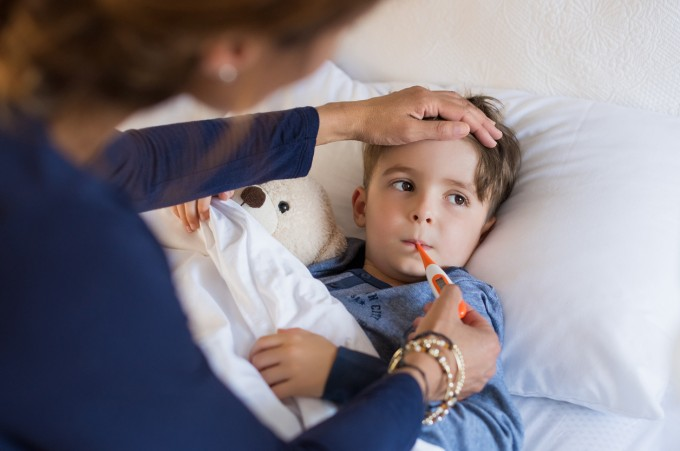 Високата температура при децата