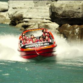 С джет лодката ще преминете през каньона Шотоувър