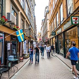 Старият град на Стокхолм Gamla Stan