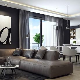 ДИВАНЪТ СРЕЩУ СТЕНАТА / Много от дизайнерите на интериор се влудяват от диван, разположен срещу стена. Най-добре е той да бъде разположен срещу врата или срещу прозорец.