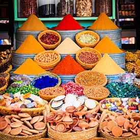Магазините за подправки са едно от най-сниманите неща в Маракеш