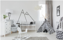 Как да избегнете токсичните и алергизиращи материали в стаята на бебето?
