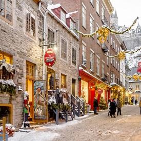 Търговският квартал Льо Пети Шамплен в Стария град е най-старият търговски квартал в Северна Америка