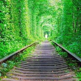 Тунелът на любовта се намира в близост до селището Клеван в Украйна и се е образувал от множество преплетени клони на дърветата от заобикалящата го гора, но и от влака, който минава оттук по няколко пъти на ден. Тунелът на любовта е дълъг около километър и освен, че изглежда приказно красив, има вярване, че ако двама влюбени преминат през него, хваната за ръка, чувствата им ще бъдат вечни.
