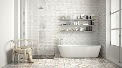 """""""Не възприемайте банята само утилитарно пространство. Днес в нея можете да сложите дори библиотека."""" Олга Тамянская, архитект"""