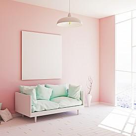 """Пастелните тонове на розовото и зеленото са новите """"ин"""" и """"ян"""" в стаята."""
