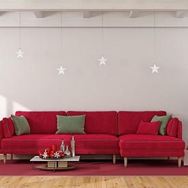 """""""По време на празниците обличам мебелите си в красиви """"рокли"""". Сменяемите калъфи създават запомняща се атмосфера."""" Олга Томпсън, интериорен дизайнер"""