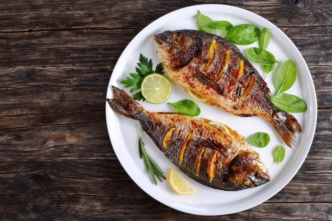 Вторник - Обяд: Грейпфрут, рибно филе на тиган със...