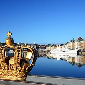 Един от символите на Швеция и Стокхолм - златната корона