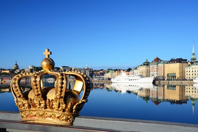 Един от символите на Швеция и Стокхолм - златната...