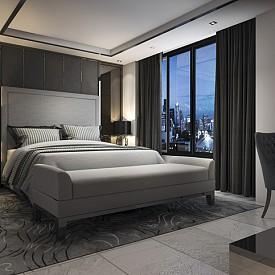 """""""Аз съм от града на белите нощи и зная, че в светла стая не се спи добре. Затова винаги съветвам спалнята да е тъмна, което най-лесно става с подходящите завеси."""" Андрей Дмитриев, интериорен дизайнер"""