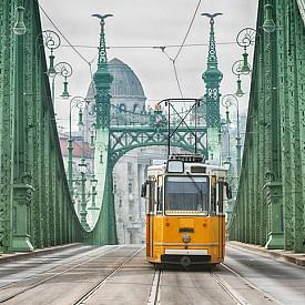 Трамвайте са популярен начин за придвижване в Будапеща.