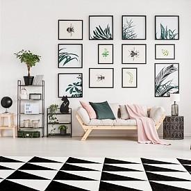 """""""Яркият килим се приема за картина. Затова на него му е нужен неутрален, светъл фон. Идеално би подхождал хладният минималистичен интериор."""" Ян Кат, интериорен дизайнер"""