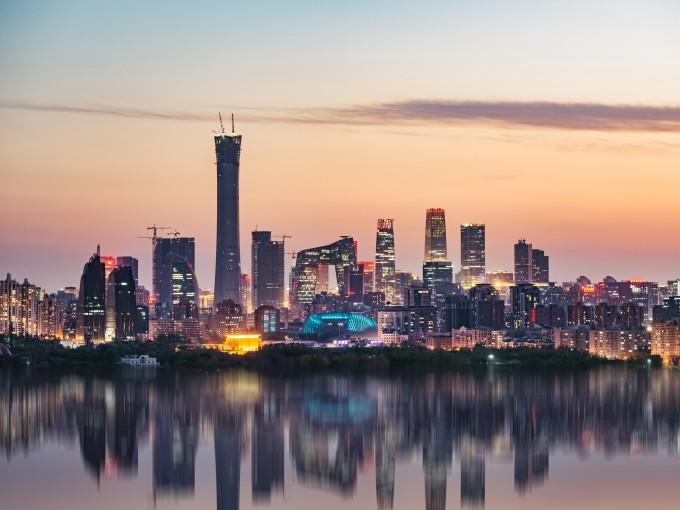 Поглед към пекинските небостъргачи