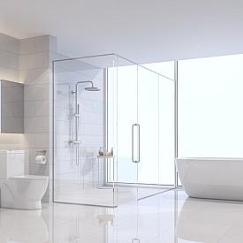 """""""Скъпата санитария, естествените материали, изисканият текстил, ефектните аксесоари и главното – свободното пространство! Това е формулата за идеалната баня на Armani."""" Armani/Roca"""