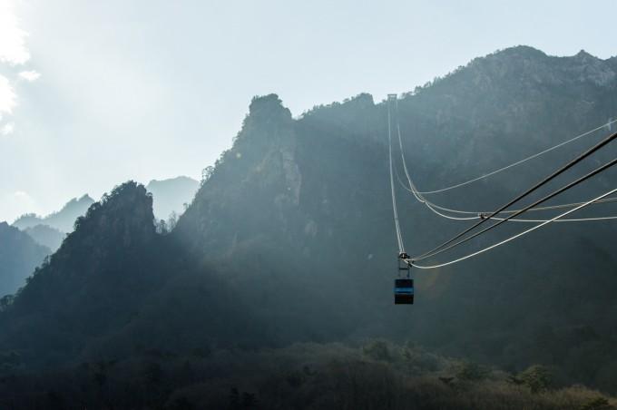Лифт в национален парк Сораксан - една от...