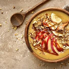 Втора закуска – ябълков мус Направете си 220 г ябълков мус без захар и го подправете с малко канела.  Около 100 калории