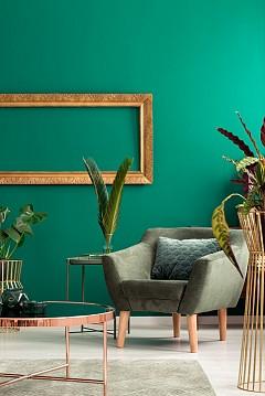 """""""Тъмнозеленият цвят остава недокоснат от времето. На неговия фон прекрасно изглеждат и мебелите, и аксесоарите."""" Dimore Studio"""