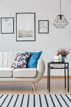 """""""Най-добре е флоралните мотиви да се съчетават с едноцветни тъкани, каре или райе."""" Нина Кембъл, интериорен дизайнер"""