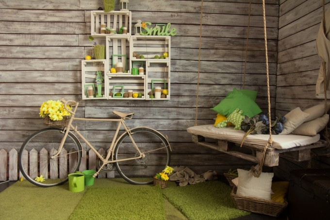 Старият велосипед влиза в ролята на дизайнерски...