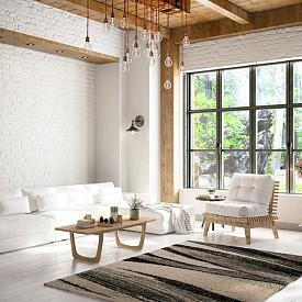 Заложете на естествени материали като дърво, камък и килими, изработени от естествени влакна.