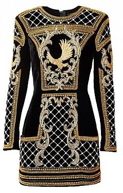 Кадифена рокля Balmain x H&M, 799 лв.