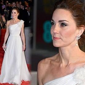 Кейт Мидълтън се повяви в бяла рокля на BAFTA 2019