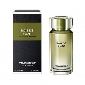 Bois de Yuzu for him на KARL LAGERFELD е фужерен-цитрусов-дървесен аромат, в който главна роля играят контрастите. Той се трансформира от изключително свеж в стратен парфюм с нотки джинджифил, юзу и дървесина.