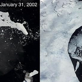 Срутването на ледения шелф на Антарктида