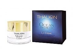 Ритуалът OCEAN SECRETS на THALION представя лифтинг крема LE CREAM. Регенериращият крем, който с меката си, копринена текстура, осигурява комплексно, мощно действие за несравними резултати в изглаждането на бръчките, стягането на кожата и повдигане на овала. Резултатите са на лице, само след четири седмици. Една от тайните на Ocean Secrets са патентованите активни комплекси Collagenage 72 и Клетъчен страж HSP, извлечени от червените водорасли Calliblepharis jubata. Те се култивират в защитена от Юнеско еко зона в открито море, провинция Бретан, Франция.