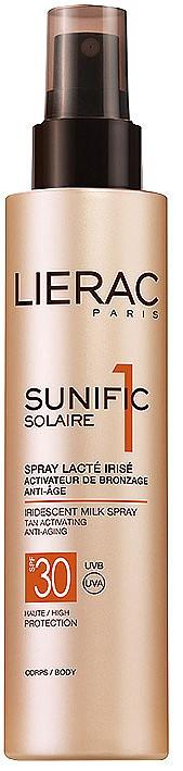 Слънцезащитно мляко за тяло Sunific от LIERAC, което хидратира, стяга кожата и стимулира тена, 62лв.