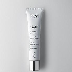 LIFTIANE CRÈME на SVR е анти-ейдж запълващ и стягащ крем, който видимо запълва бръчките и третира отпускането на кожата. Формулата му включва чист ресвератрол и два вида хиалуронова киселина с различна големина на молекулата, която хидратира и подпомага задържането на вода в кожата, запълва бръчките и подсилва естествената защита на чувствителната кожа.
