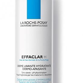 Специално предназначен за нуждите на мазната кожа, измиващият крем Effaclar H на LA ROCHE POSAY нежно почиства и успокоява кожата, за да възвърне усещането й за комфорт.