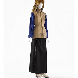 Maison Martin Margiela, A/W 1997-1998, fur wig, gilet in linen, blouse in cotton, skirt in wool and shoes in leather