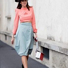 Street Style в синьо от Милано