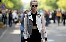 Street style вдъхновения на дрехи с дълбоки цепки
