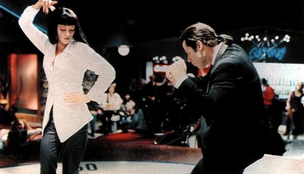"""Ума Търман, """"Криминале"""":  Бяла риза, черен панталон и..."""