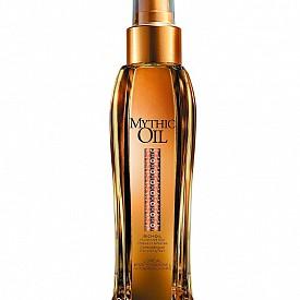Mythic Oil на Loreal Proffesionnel – богато олио за непокорна коса. Подхранва и контролира сухата и непокорна коса. Формулата с масло от арган и оризови трици подхранва интензивно и омекотява непокорната коса.