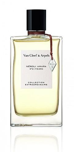 Върху кожата Néroli Amara на Van Cleef & Arpels разкрива връхни нотки на одеколон, освежени от червени плодове и акценти кипарис. Сърцето е флорално и много пищно, а за финал ароматът ни обгръща с изискани ухания, напомнящи за Средиземноморието